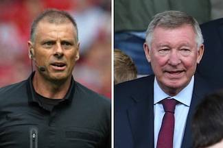 Sir Alex and referee Halsey – the tip of the iceberg?